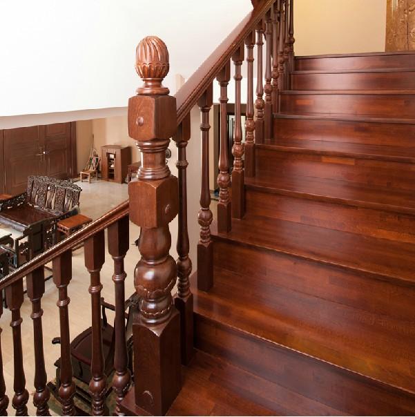北京木制楼梯直销 北京实木楼梯踏步板 阁楼复试别墅楼梯