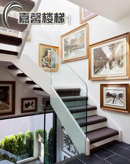 北京楼梯玻璃扶手 阁楼楼梯