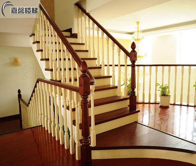 北京实木楼梯厂家 整体实木楼梯