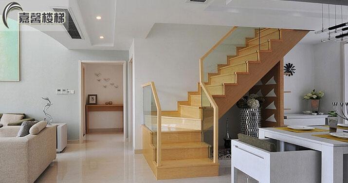 北京阁楼楼梯定制 北京品牌楼梯定制 北京木制楼梯定制 整体实木楼梯