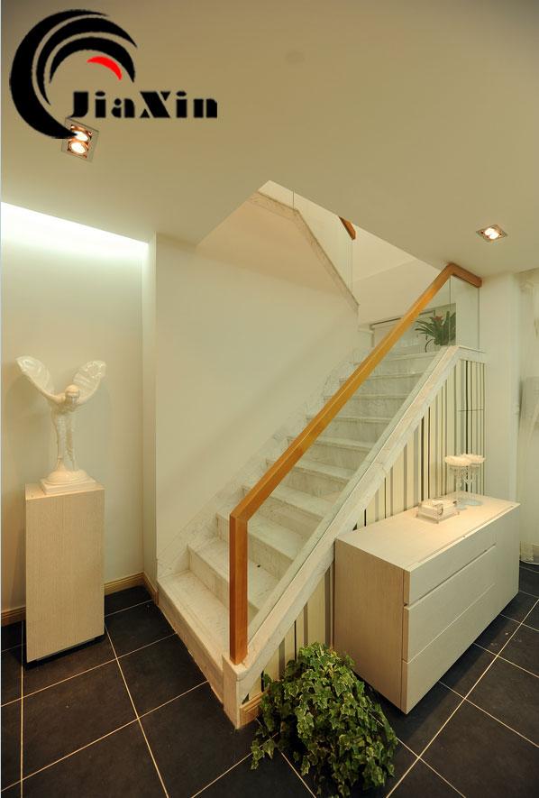北京实木楼梯 玻璃护栏扶手 loft楼梯定制