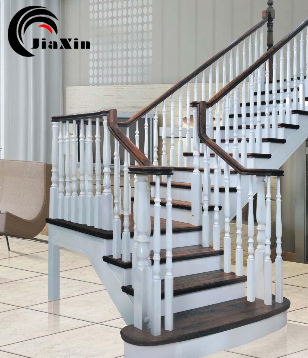 北京实木楼梯定制 别墅楼梯 复试楼梯 loft楼梯 原木