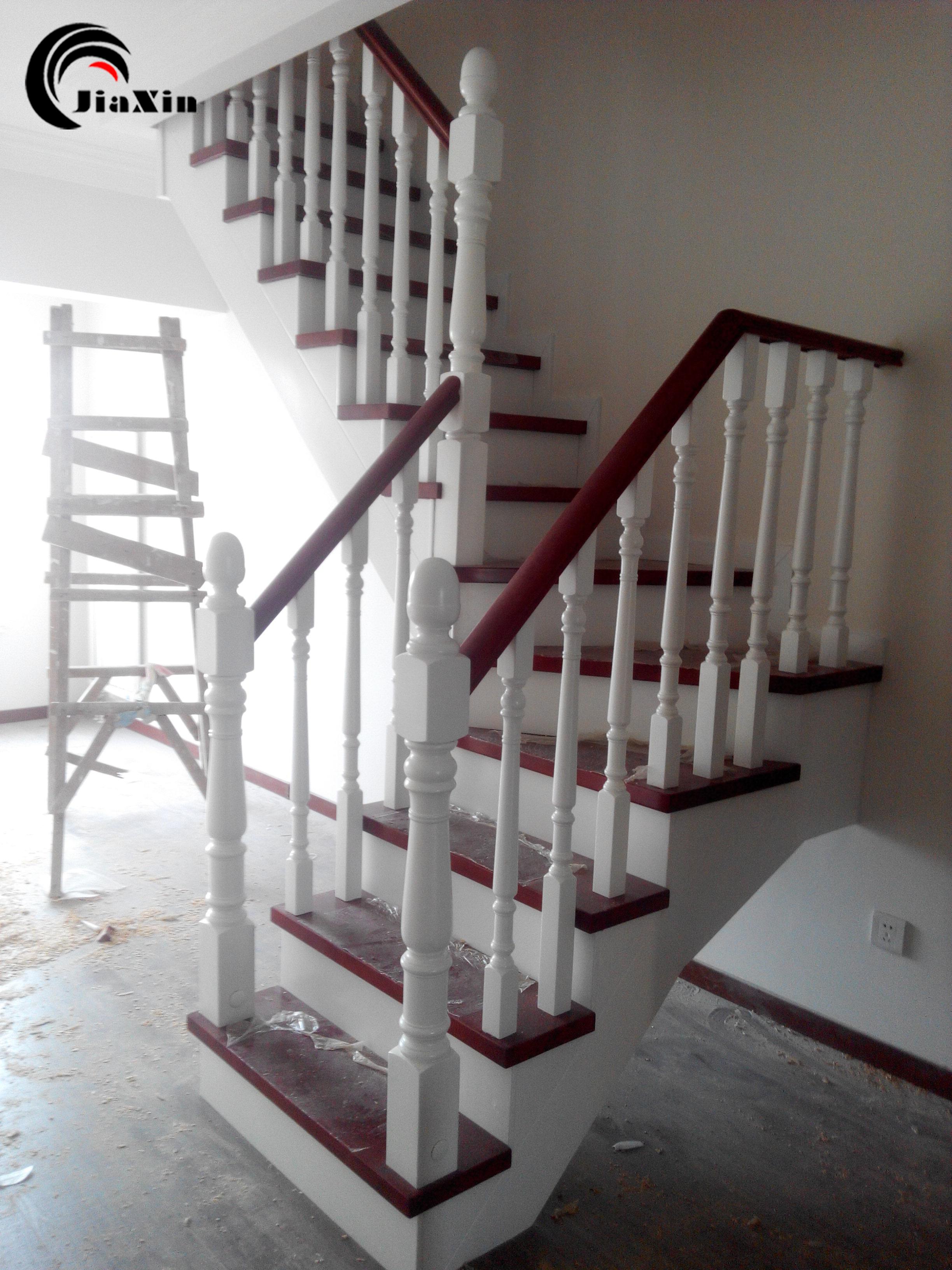 北京楼梯直销原木楼梯阁楼复式别墅楼梯护栏扶手定制